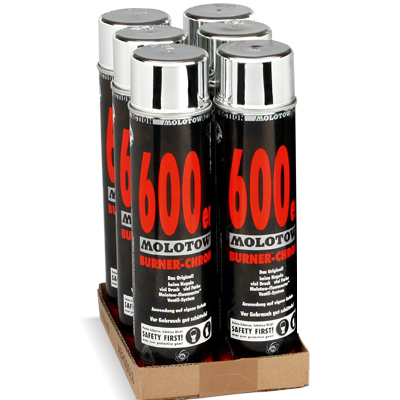 MOLOTOW ACTION Burner Chrome 600ml 6-Pack