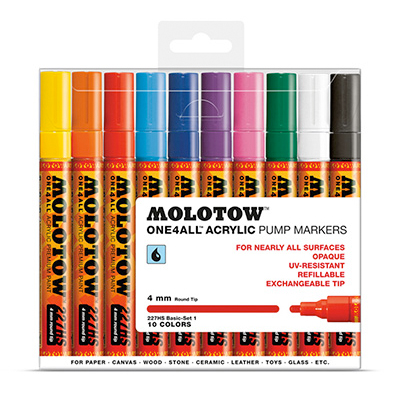 MOLOTOW ONE4ALL Marker 227HS 4mm 10er Set Basic 1