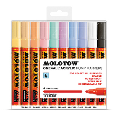 MOLOTOW ONE4ALL Marker 227HS 4mm 10er Set Pastell