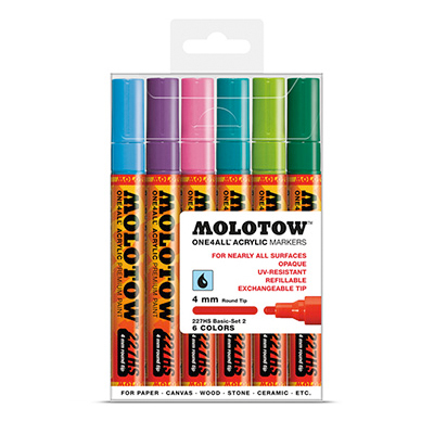 MOLOTOW ONE4ALL Marker 227HS 4mm 6er Set Basic 2