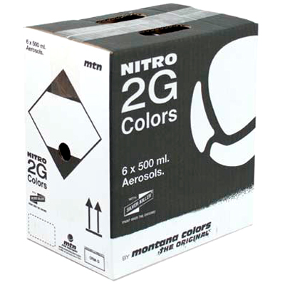 MTN NITRO 2G COLORS 500ml Spray Can 6-Pack