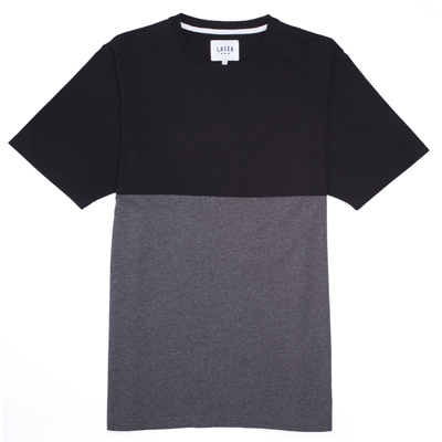 LASER T-Shirt MONTSENY TWO TONES black/heather grey