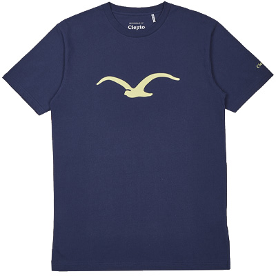 CLEPTOMANICX T-Shirt MÖWE dark navy/elfin yellow