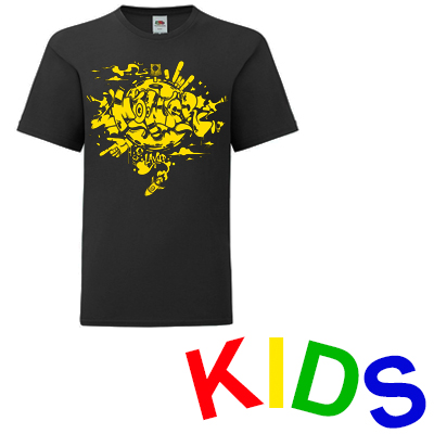 LAYUP T-Shirt MOWER black/yellow - Kids