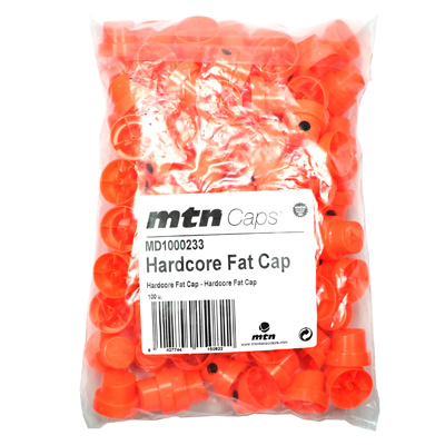 FAT Cap HARDCORE orange-schwarz - 100er PACK