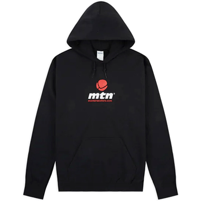 MONTANA COLORS Hoody MTN LOGO black/white/red