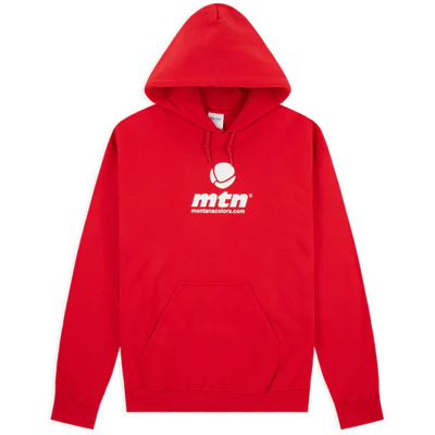 MONTANA COLORS Hoody MTN LOGO red/white