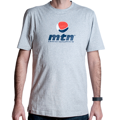 MONTANA COLORS T-Shirt MTN LOGO heather grey/navy/red
