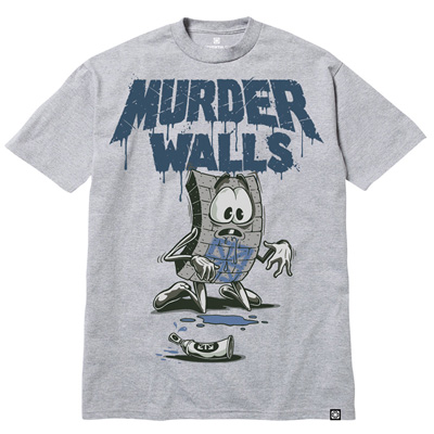 7TH LETTER T-Shirt EWOK MURDER WALLS heather grey