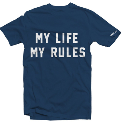 BANDITISM T-Shirt MY LIFE MY RULES harbor blue