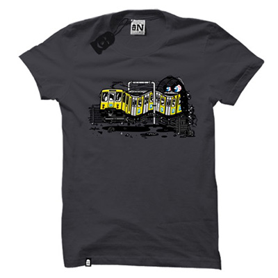 VANDALS ON HOLIDAYS T-Shirt NAPOLI METRO dark grey
