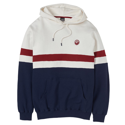 CLEPTOMANICX Hoody NAUTIC creme/burgundy/navy