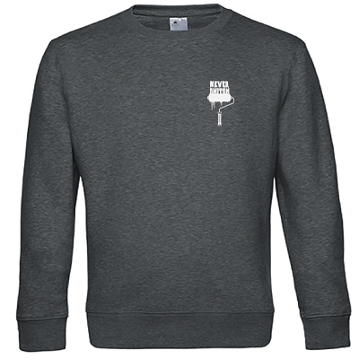 Sweater NEVER SNITCH heather dark grey