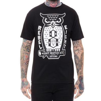 REBEL8 T-Shirt NIGHT WATCH black