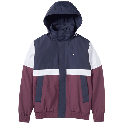 CLEPTOMANICX Jacket NINESO dark navy/white/purple