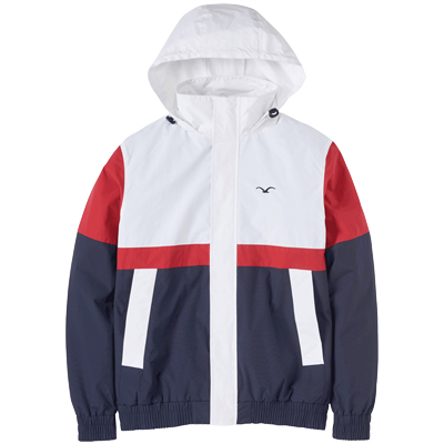 CLEPTOMANICX Jacket NINESO white/red/dark navy