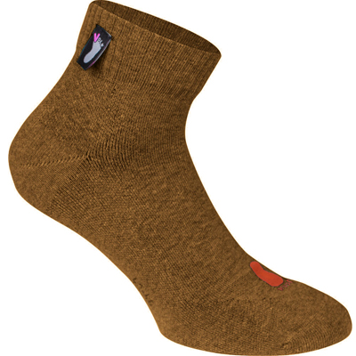 FUSSVOLK Socks QUARTER nut brown