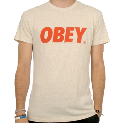 OBEY T-Shirt OBEY FONT LOGO heather stone
