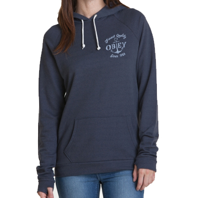 OBEY Girl Hoody FINEST ANCHOR dusty navy