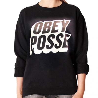 OBEY Girl Sweater POSTED black/white