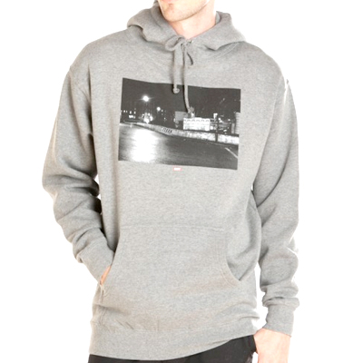 OBEY Hoody EAST LONDON PHOTO heather grey