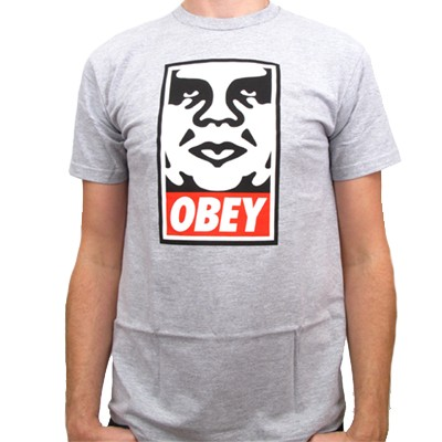 OBEY T-Shirt OBEY ICON heather grey