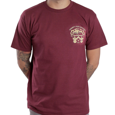 OBEY T-Shirt INJURIA burgundy