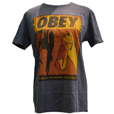 OBEY Girl Shirt NO RUNS crown blue