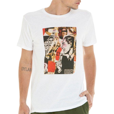 OBEY T-Shirt POST NO BILLS white