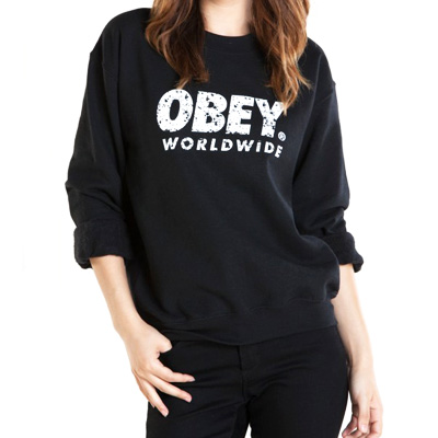 OBEY Girl Sweater PAINTED FUTURA black