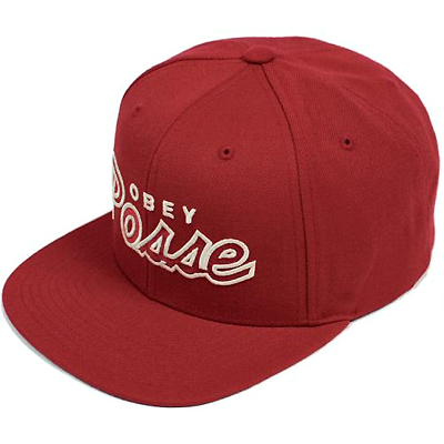 OBEY Snap Back Cap OBEY POSSE crimson red