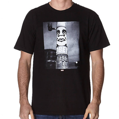 OBEY T-Shirt OBEY POSTER POLE PHOTO black