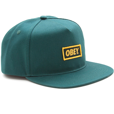 OBEY Snap Back Cap NEW ORIGINAL LOGO forest