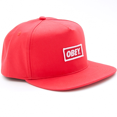 OBEY Snap Back Cap NEW ORIGINAL LOGO red