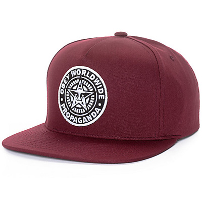 OBEY Snap Back Cap CLASSIC PATCH burgundy