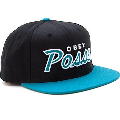 OBEY Snap Back Cap OBEY POSSE black/teal