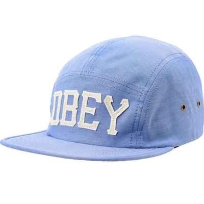 OBEY 5Panel Cap STADIUM indigo chambray
