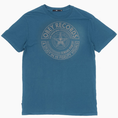 OBEY T-Shirt VISUAL FIDELITY corsair blue