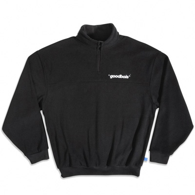 GOODBOIS Fleece Jacket OFFICIAL HALFZIP black