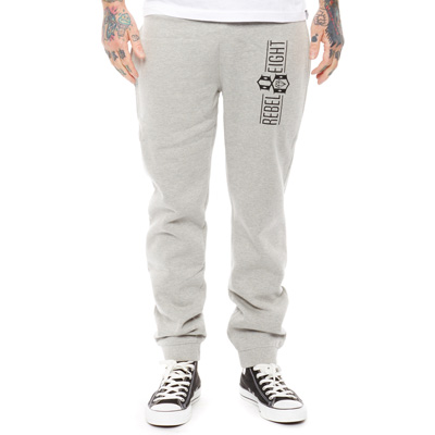 REBEL8 Sweatpants OFFICIAL LOGO heather grey
