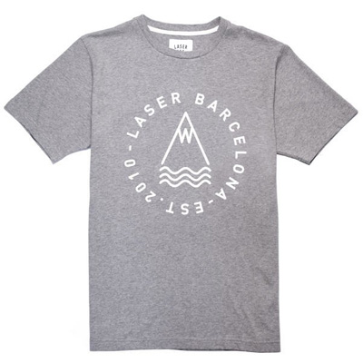 LASER T-Shirt OG LOGO heather grey/white