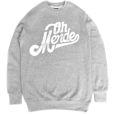 BANDITISM Sweater OH MERDE heather grey