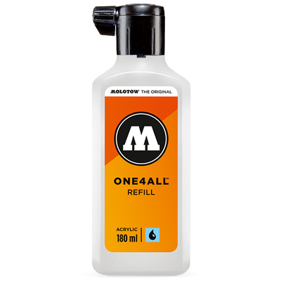 MOLOTOW ONE4ALL Refill Paint 180ml Empty Bottle