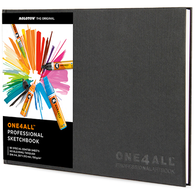 MOLOTOW ONE4ALL Professional Sketchbook A4 quer