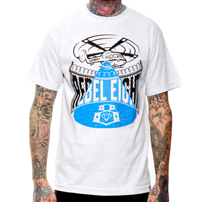 REBEL8 T-Shirt ON THE RUN heather ash grey