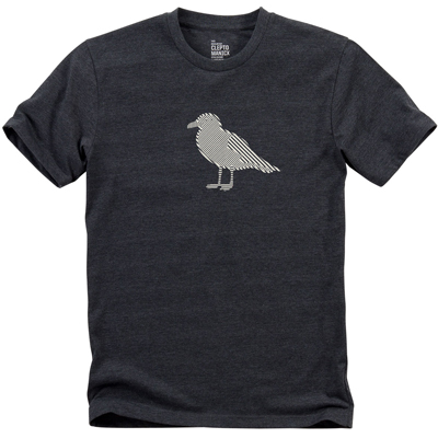 CLEPTOMANICX T-Shirt OP GULL heather black