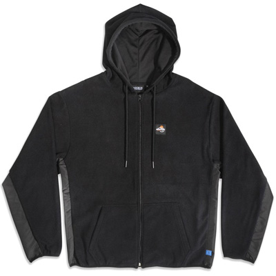 GOODBOIS Fleece Zip-Hoody OUTDOOR SPORTS black