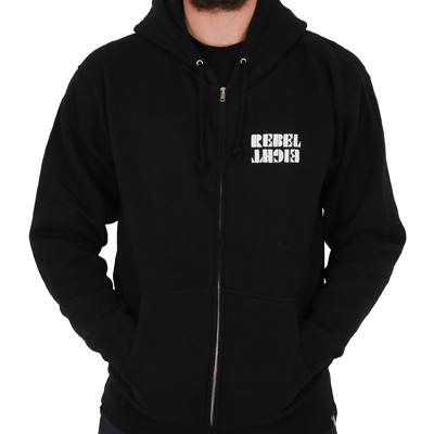 REBEL8 Hooded Zipper OVERSPRAY black