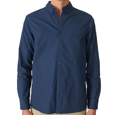CLEPTOMANICX Shirt OXFORD dark navy
