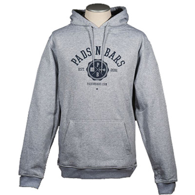 PADS N BARS Hoody LOGO heather grey